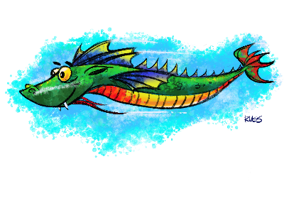 Drink and Draw Sea Dragons